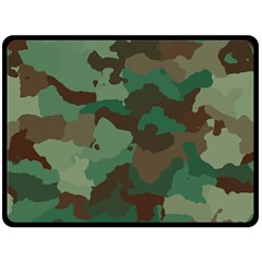 Camouflage Pattern A Completely Seamless Tile Able Background Design Double Sided Fleece Blanket (Large)