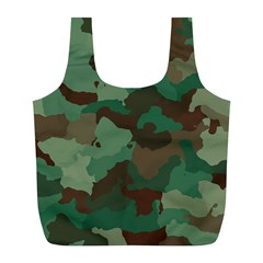 Camouflage Pattern A Completely Seamless Tile Able Background Design Full Print Recycle Bags (L)