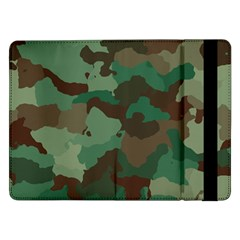 Camouflage Pattern A Completely Seamless Tile Able Background Design Samsung Galaxy Tab Pro 12 2  Flip Case