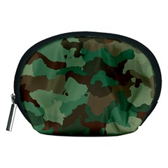 Camouflage Pattern A Completely Seamless Tile Able Background Design Accessory Pouches (Medium)