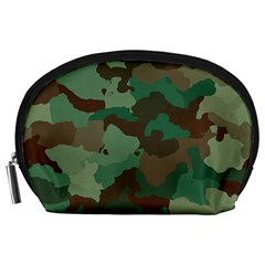 Camouflage Pattern A Completely Seamless Tile Able Background Design Accessory Pouches (Large)