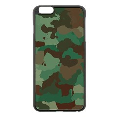 Camouflage Pattern A Completely Seamless Tile Able Background Design Apple iPhone 6 Plus/6S Plus Black Enamel Case