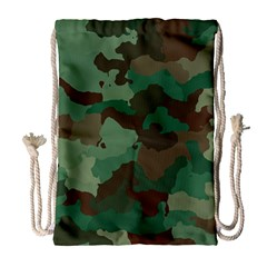 Camouflage Pattern A Completely Seamless Tile Able Background Design Drawstring Bag (Large)