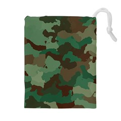 Camouflage Pattern A Completely Seamless Tile Able Background Design Drawstring Pouches (extra Large)