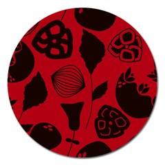 Congregation Of Floral Shades Pattern Magnet 5  (round)