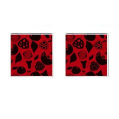 Congregation Of Floral Shades Pattern Cufflinks (Square)