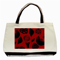 Congregation Of Floral Shades Pattern Basic Tote Bag (Two Sides)