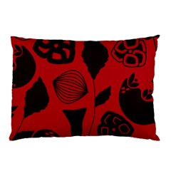 Congregation Of Floral Shades Pattern Pillow Case