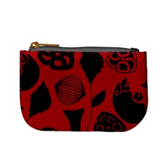 Congregation Of Floral Shades Pattern Mini Coin Purses