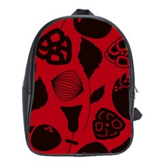 Congregation Of Floral Shades Pattern School Bags(large)
