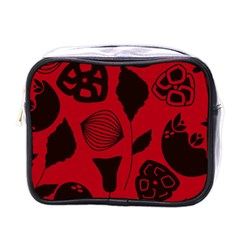 Congregation Of Floral Shades Pattern Mini Toiletries Bags