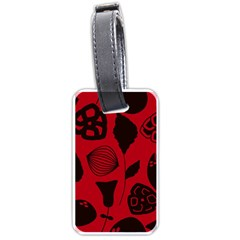 Congregation Of Floral Shades Pattern Luggage Tags (One Side)