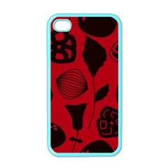 Congregation Of Floral Shades Pattern Apple iPhone 4 Case (Color)
