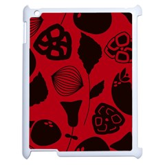 Congregation Of Floral Shades Pattern Apple iPad 2 Case (White)