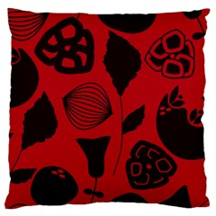 Congregation Of Floral Shades Pattern Large Cushion Case (one Side)