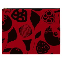 Congregation Of Floral Shades Pattern Cosmetic Bag (xxxl)