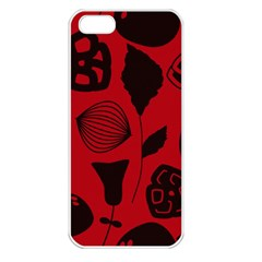 Congregation Of Floral Shades Pattern Apple iPhone 5 Seamless Case (White)