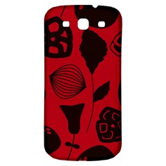 Congregation Of Floral Shades Pattern Samsung Galaxy S3 S III Classic Hardshell Back Case
