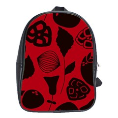 Congregation Of Floral Shades Pattern School Bags (XL)