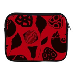 Congregation Of Floral Shades Pattern Apple iPad 2/3/4 Zipper Cases