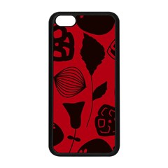 Congregation Of Floral Shades Pattern Apple iPhone 5C Seamless Case (Black)