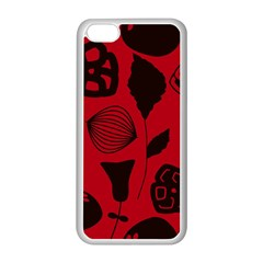 Congregation Of Floral Shades Pattern Apple iPhone 5C Seamless Case (White)