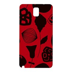 Congregation Of Floral Shades Pattern Samsung Galaxy Note 3 N9005 Hardshell Back Case