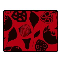 Congregation Of Floral Shades Pattern Double Sided Fleece Blanket (Small)