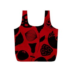 Congregation Of Floral Shades Pattern Full Print Recycle Bags (S)