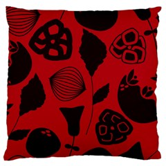 Congregation Of Floral Shades Pattern Large Flano Cushion Case (One Side)