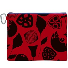 Congregation Of Floral Shades Pattern Canvas Cosmetic Bag (xxxl)