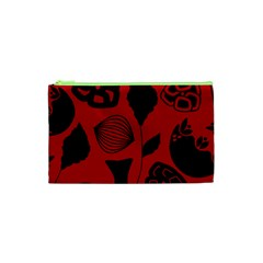 Congregation Of Floral Shades Pattern Cosmetic Bag (XS)