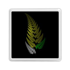 Drawing Of A Fractal Fern On Black Memory Card Reader (square)