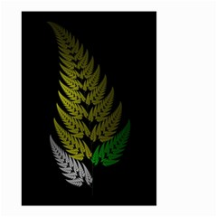 Drawing Of A Fractal Fern On Black Small Garden Flag (Two Sides)