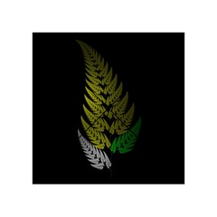 Drawing Of A Fractal Fern On Black Acrylic Tangram Puzzle (4  x 4 )