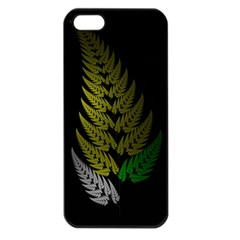 Drawing Of A Fractal Fern On Black Apple Iphone 5 Seamless Case (black)