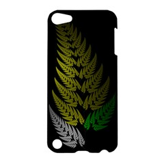 Drawing Of A Fractal Fern On Black Apple iPod Touch 5 Hardshell Case