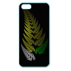 Drawing Of A Fractal Fern On Black Apple Seamless Iphone 5 Case (color)