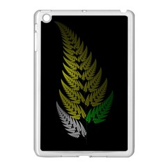 Drawing Of A Fractal Fern On Black Apple iPad Mini Case (White)