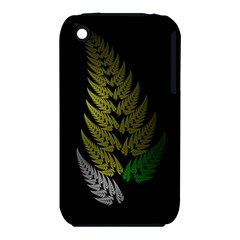 Drawing Of A Fractal Fern On Black iPhone 3S/3GS