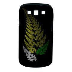 Drawing Of A Fractal Fern On Black Samsung Galaxy S III Classic Hardshell Case (PC+Silicone)