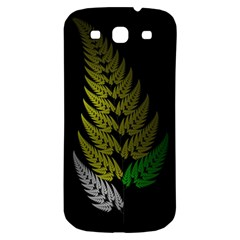 Drawing Of A Fractal Fern On Black Samsung Galaxy S3 S III Classic Hardshell Back Case