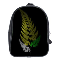 Drawing Of A Fractal Fern On Black School Bags (xl)