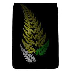 Drawing Of A Fractal Fern On Black Flap Covers (S)