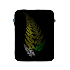 Drawing Of A Fractal Fern On Black Apple iPad 2/3/4 Protective Soft Cases