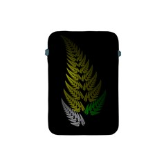 Drawing Of A Fractal Fern On Black Apple iPad Mini Protective Soft Cases