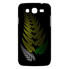 Drawing Of A Fractal Fern On Black Samsung Galaxy Mega 5.8 I9152 Hardshell Case