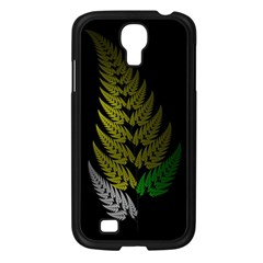 Drawing Of A Fractal Fern On Black Samsung Galaxy S4 I9500/ I9505 Case (black)