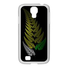 Drawing Of A Fractal Fern On Black Samsung GALAXY S4 I9500/ I9505 Case (White)