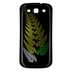 Drawing Of A Fractal Fern On Black Samsung Galaxy S3 Back Case (Black)